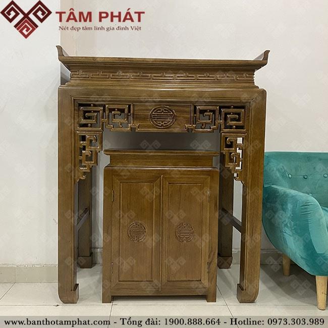 Bàn thờ đẹp mẫu BT-1104 nhỏ gọn thích hợp với không gian nội thất căn hộ chung cư