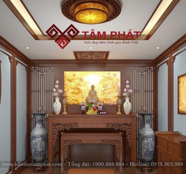 Mẫu bàn thờ gỗ đẹp BT-1063 của Tâm Phát