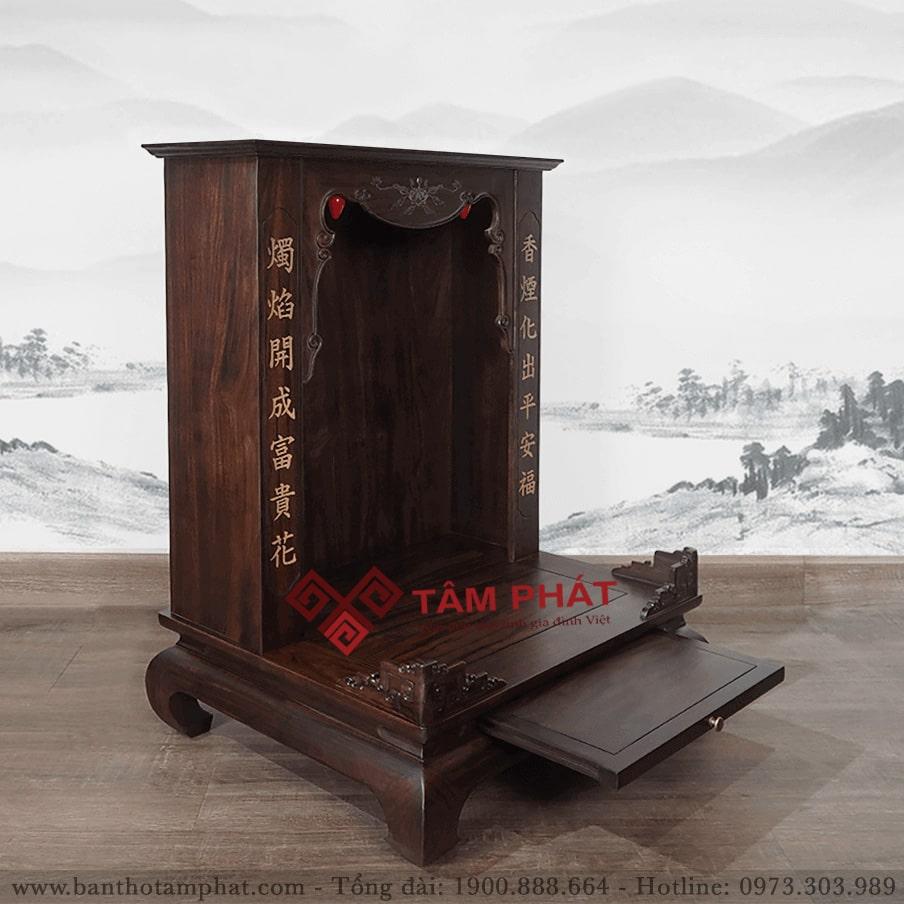 Bàn thờ Thần Tài đẹp mẫu BTT-3305 có mái bằng hiện đại