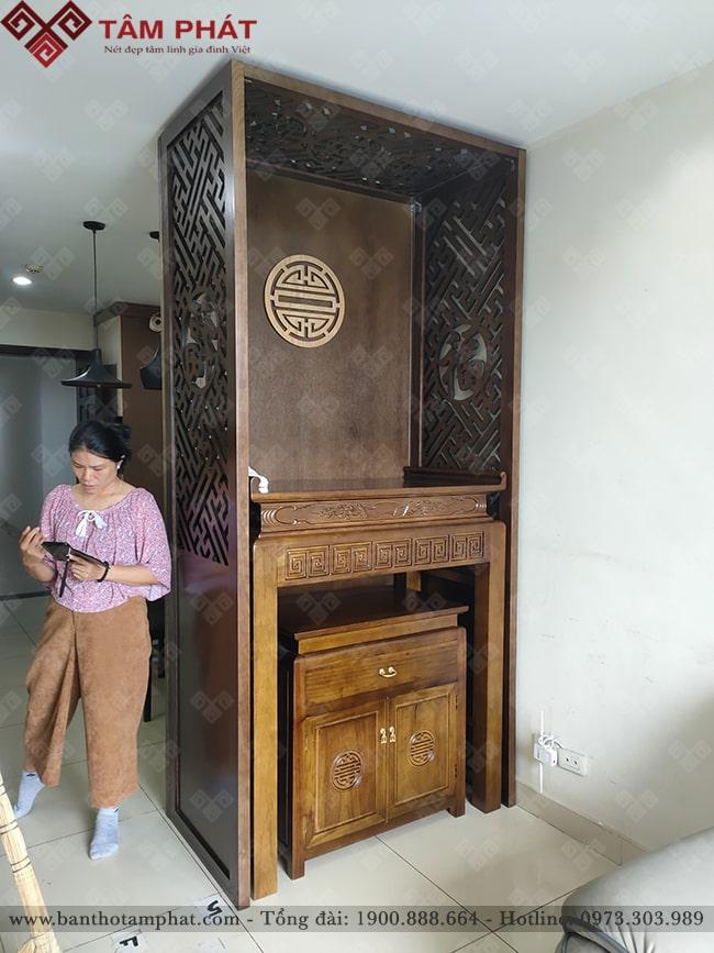 Thờ Phật hoặc Thờ Gia Tiên với mẫu bàn thờ đẹp BT-1106
