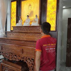 Khách hàng có thể sử dụng bàn thờ tam cấp kết hợp