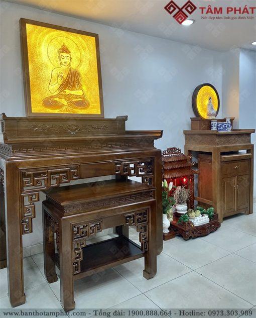 Tranh treo bàn thờ Phật đa dạng về thiết kế