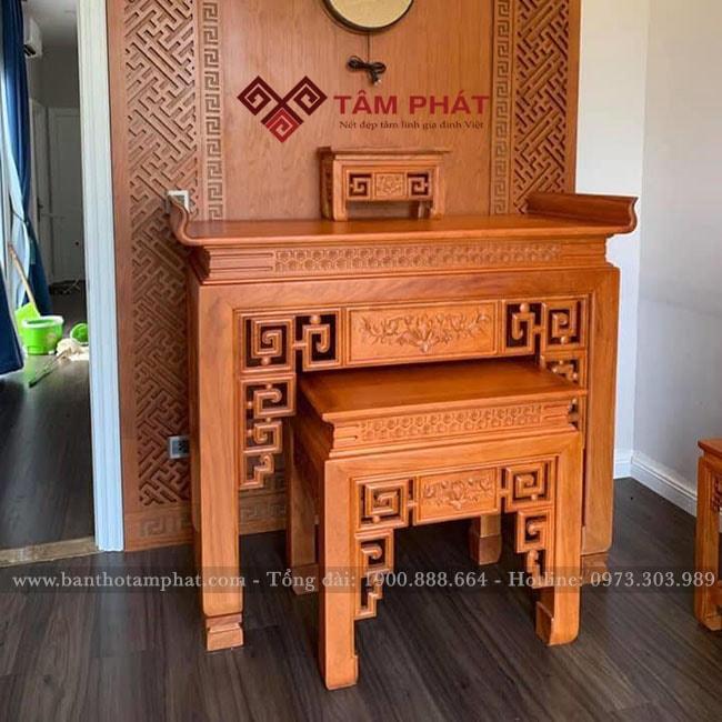 Bàn thờ gỗ Tâm Phát BT-1061 có đầy đủ chế độ bảo hành sửa chữa theo quy định