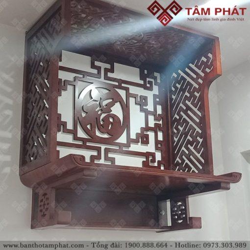 Sản phẩm đẹp kết hợp vách ngăn 2 bên tạo nên không gian thờ ấm cúng