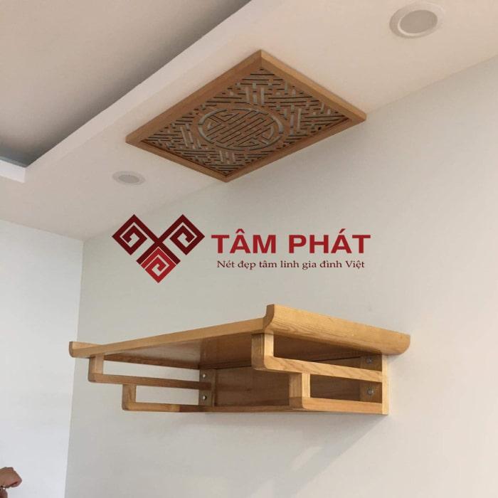 Mẫu bàn thờ treo tường TT2018 phù hợp với nhiều không gian căn hộ
