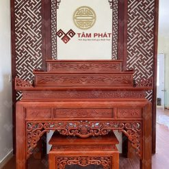 Bàn thờ gỗ Hương Đá trang trí đơn giản