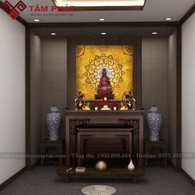Bàn thờ gia tiên kết hợp bàn thờ Phật mẫu BT-1059