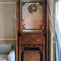 Bàn thờ được hoàn thiện cho khách hàng ở chung cư
