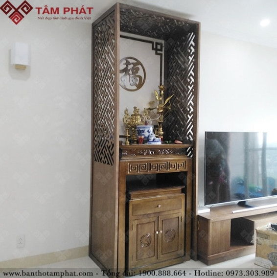 Mẫu bàn thờ Phật BT-1106 cho căn hộ thêm sang trọng