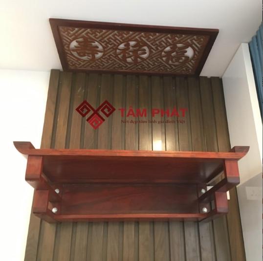 Bàn thờ treo tường gỗ Hương mẫu TTH2038