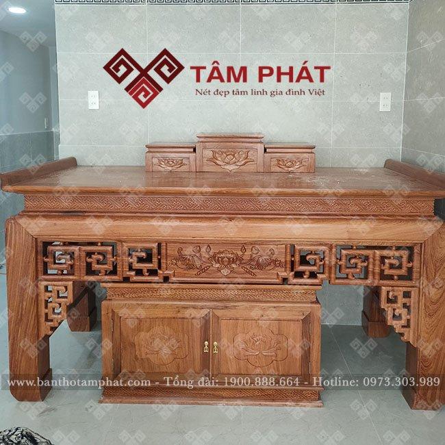 Bàn thờ Tâm Phát đẹp, gỗ tốt, giá rẻ