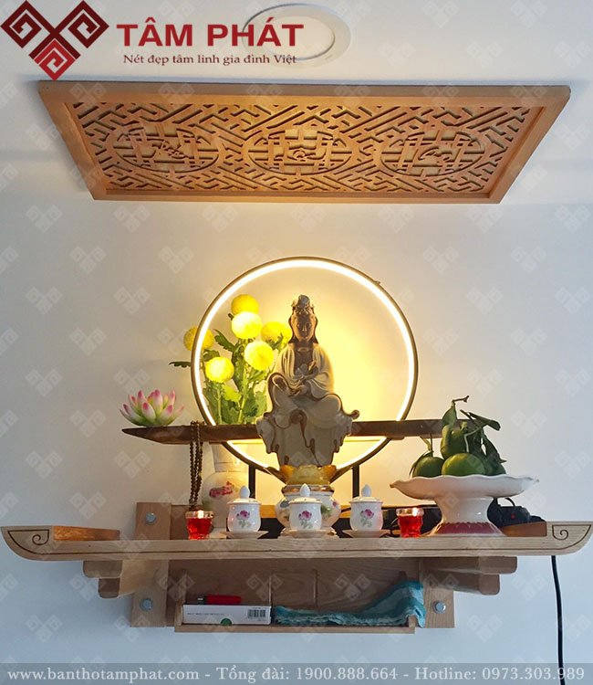 Mẫu bàn thờ Phật đẹp đa dạng kích thước, màu sắc