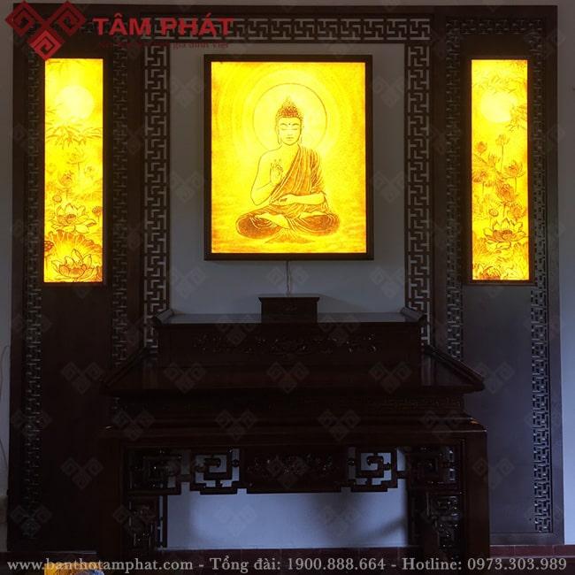 Tranh trúc chỉ đặc sắc cho phòng thờ Phật