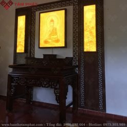 Phòng thờ kết hợp thờ Phật và Gia Tiên mẫu BT-1110