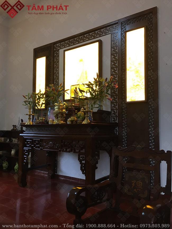 Bàn thờ kết hợp thờ Phật và Gia Tiên mẫu BT-1110