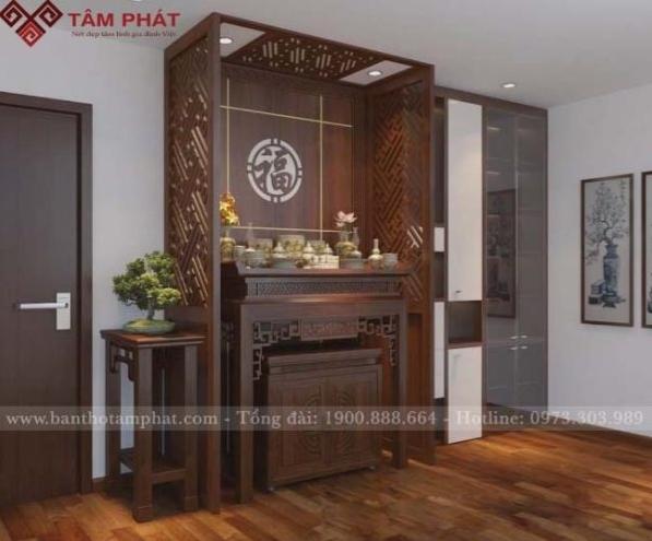 Thiết kế sang trọng của mẫu bàn thờ tại Tâm Phát