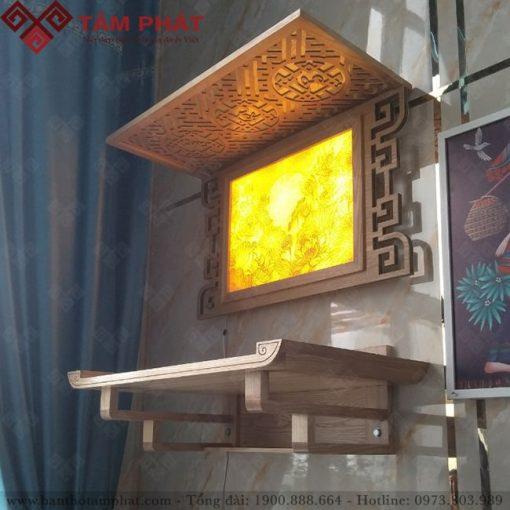 Mẫu bàn thờ treo tường đẹp TT2025 Tâm Phát được nhiều khách hàng lựa chọn