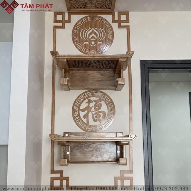 Bàn thờ treo 2 tầng tối ưu được không gian