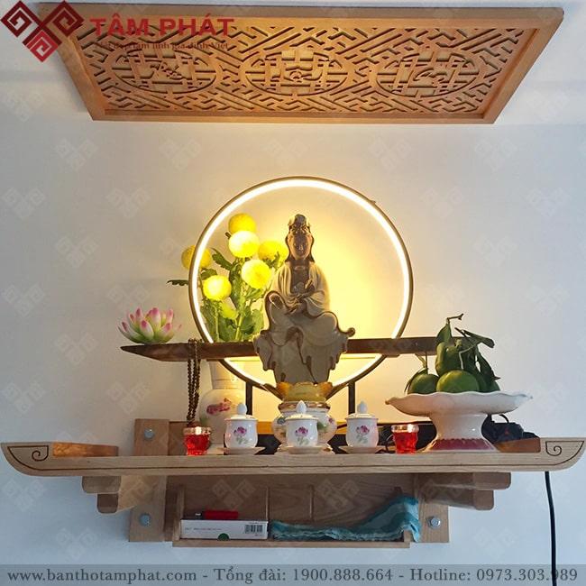 Bàn thờ Phật treo tường mẫu TT2095 Tâm Phát