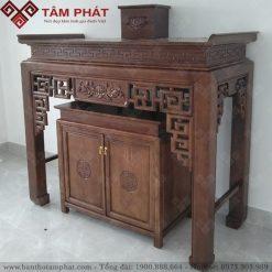 Bàn thờ gỗ Sồi cùng mẫu giá thành phù hợp