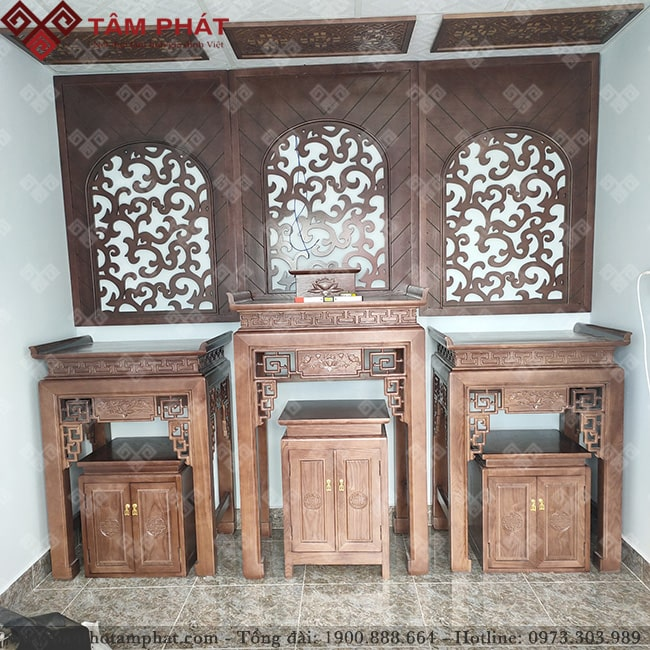 Có thể kết hợp 3 bàn thờ trong cùng một không gian tuỳ mục đích của gia chủ