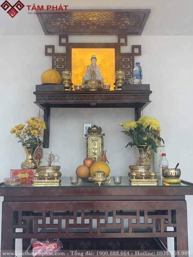 Tranh trúc chỉ cho bàn thờ Phật treo tường