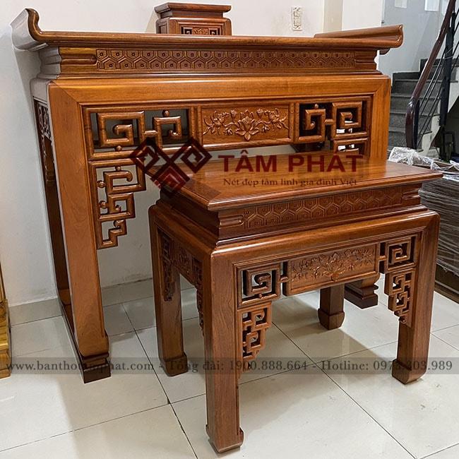 Bàn thờ đẹp Tâm Phát mẫu BT-1101 hoạ tiết Sen