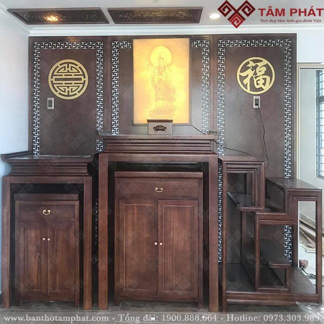 Có thể kết hợp nhiều mẫu bàn thờ chung một không gian