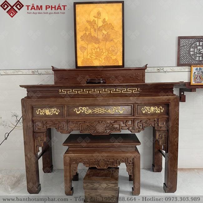 Bàn thờ Tâm Phát có nhiều kích thước khác nhau phù hợp nhiều không gian