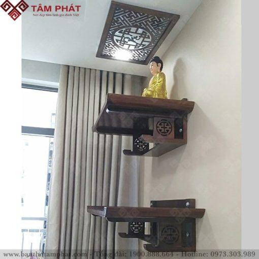 Mẫu bàn thờ treo tường 2 tầng