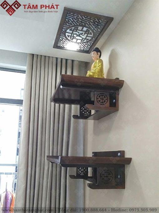 Mẫu bàn thờ treo tường 2 tầng TT2099