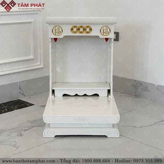 Bàn thờ Thần Tài BTT-3312 đầy đủ kích thước phong thủy như 41x41, 41x48, 48x48, 48x56, 48x61, 56x56, 61x61