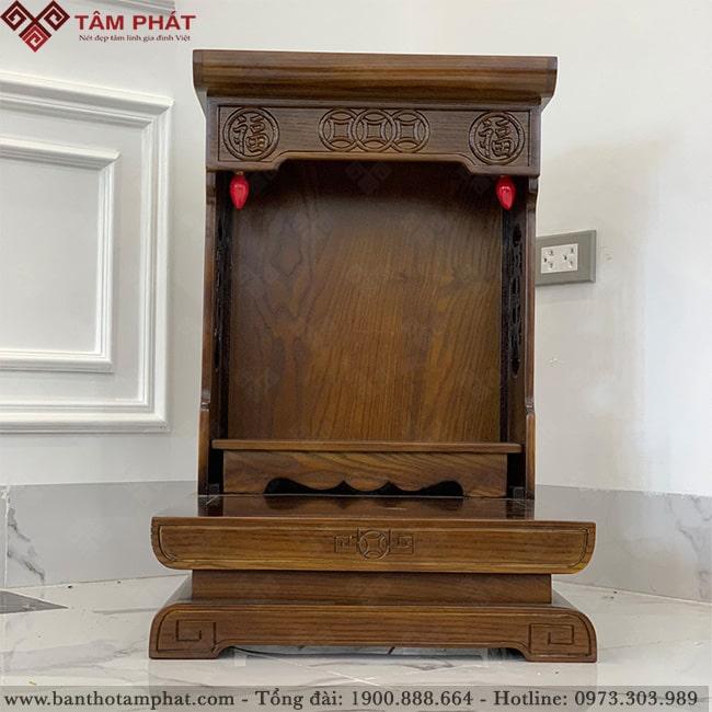 Mẫu bàn thờ ông Địa BTT-3315 làm bằng gỗ Sồi