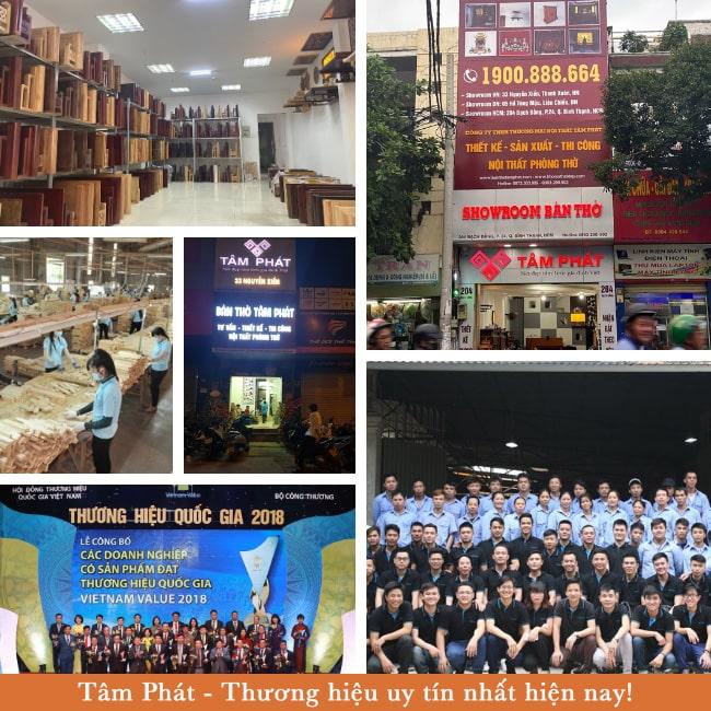 Bàn thờ Tâm Phát là đơn vị bán bàn thờ treo tường lớn nhất VN