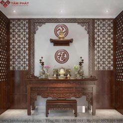 Bàn thờ Phật và gia tiên mẫu BT-1125