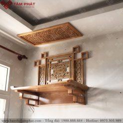 Bàn thờ treo TT2072 màu sáng sồi