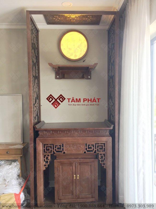 Không gian thờ Phật và gia tiên cho nhà chung cư