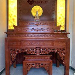 Mẫu bàn thờ tam cấp BT-1089 được Tâm Phát thi công cho rất nhiều gia đình