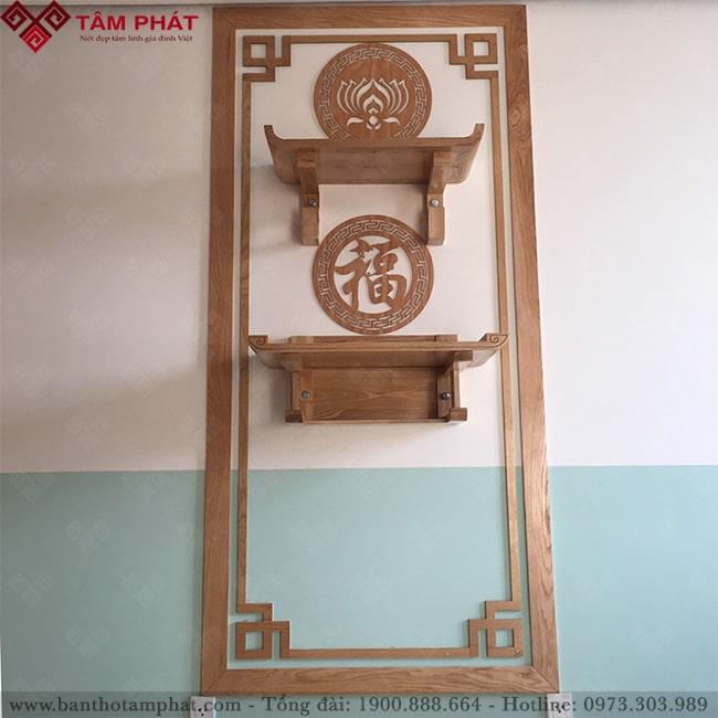 Sửa dụng bàn thờ treo tường là xu hướng hiện nay