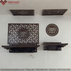 Không gian thờ Phật và gia tiên sử dụng bàn thờ treo tường TT2097