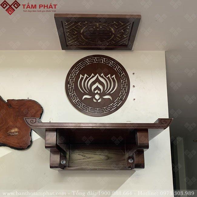 Bàn thờ treo kích thước nhỏ cho nhà chung cư