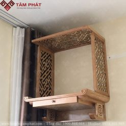 Bàn thờ treo tường có ngăn kéo rất tiện lợi