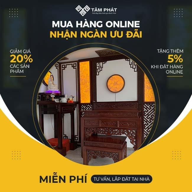Nhận thêm ưu đã khi đặt hàng online
