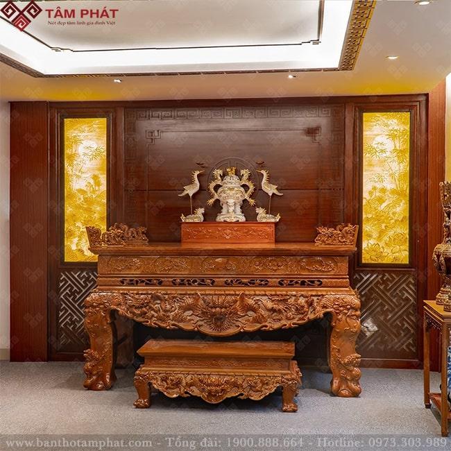 Bàn thờ gỗ tốt cực bền Tâm Phát