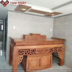 Bàn thờ gỗ Hương đá khi được hoàn thiện