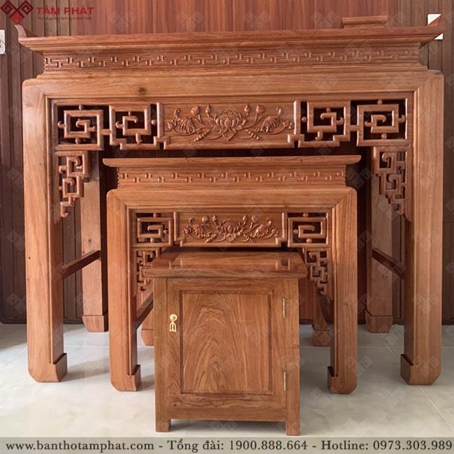 Mẫu bàn thờ gỗ Hương Đá cao cấp BT-1126