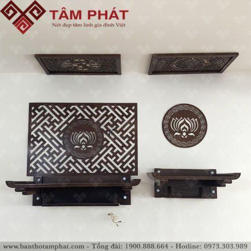 bàn thờ treo kết hợp với nhiều kiểu trang trí đa dạng