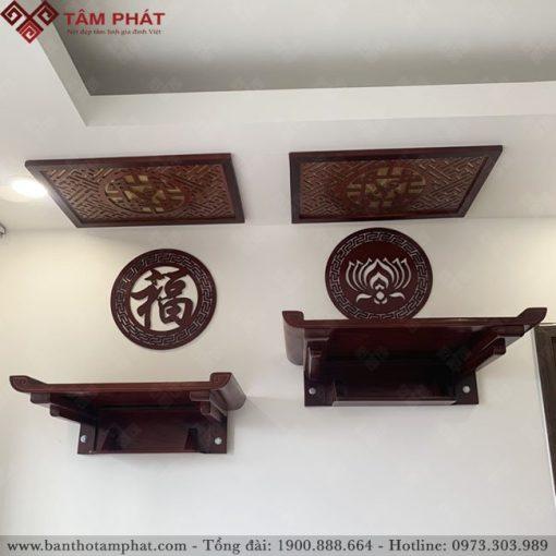 Bàn thờ Phật và gia tiên làm bằng gỗ Sồi mẫu TT2095