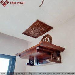Bàn thờ có ngắn kéo màu nâu hợp với nội nội thất nhiều căn hộ