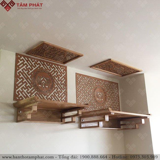 Mẫu bàn thờ treo được thiết kế đơn giản